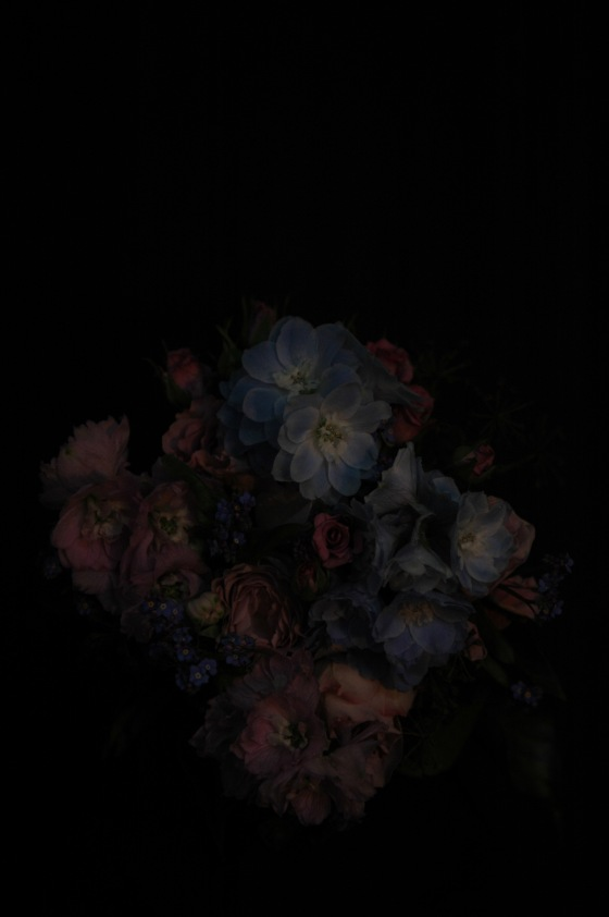 bouquet_13 powderblue/rose